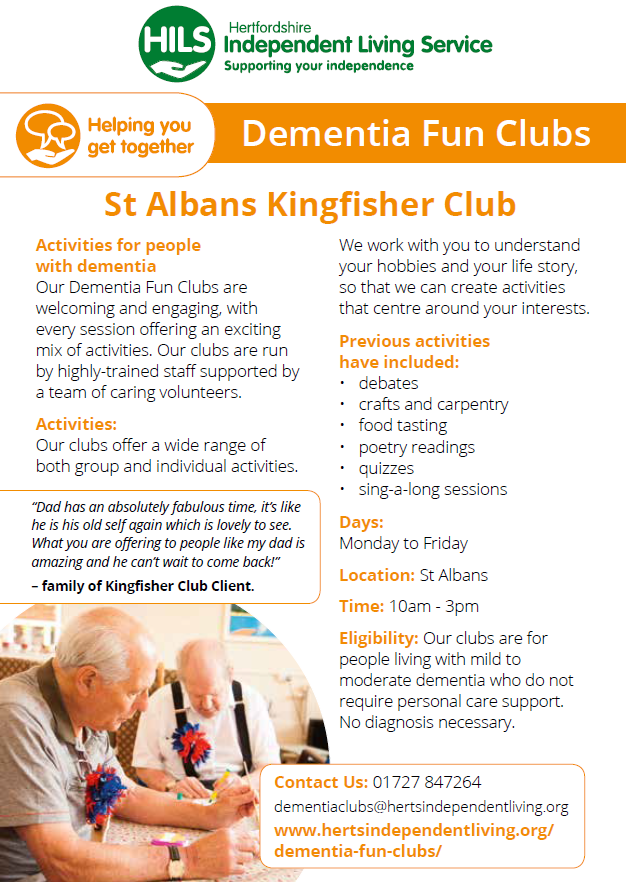Dementia Fun Clubs in St Albans